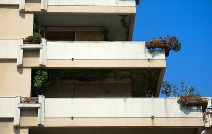 Gocciolatoio balcone condominio