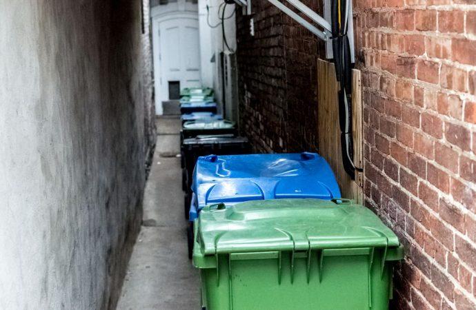 Collocazione bidoni per la raccolta differenziata nel supercondominio