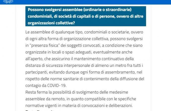 """Governo: sì alle assemblee condominiali in """"presenza fisica"""""""