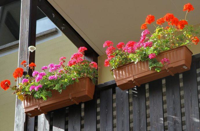 Posso mettere una fioriera sul balcone?
