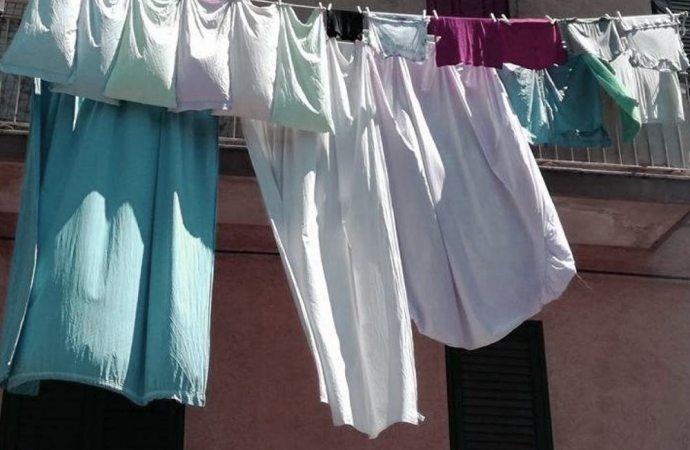 Fino a che lunghezza si possono stendere le lenzuola fino all'appartamento sottostante?